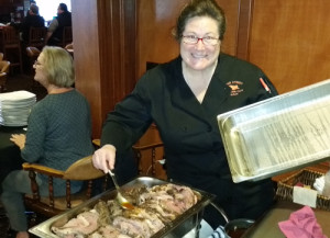 PER Susan Timney serving up Roast Beef